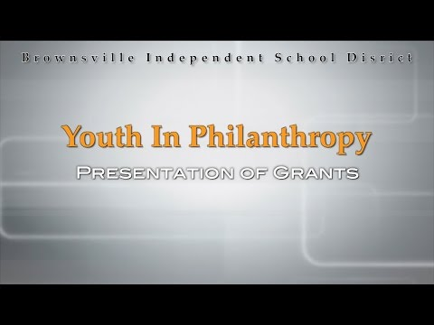 Youth In Philanthropy: Presentation of Grants