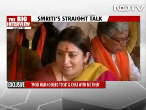 Barkha Dutt shown her place by Smriti Irani.