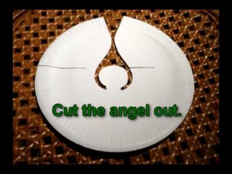 Craft ideas for Christmas - Angel made from paper plate - YouTube - angels templates free