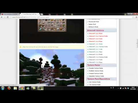 สอนโหลดminecraft 1.5.2 เทคเจอร์แพค