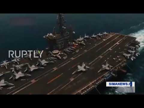 At Sea: Iranian drone films alleged US aircraft carrier in Persian Gulf
