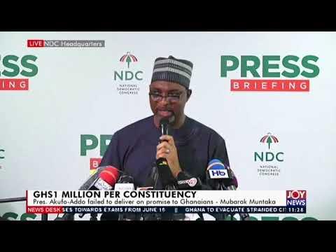 Mubarak Muntaka: Akufo-Addo's $1m per constituency promise was a scam –  Joy News (1-6-20)