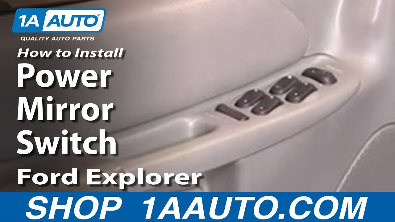 How To Install Replace Power Mirror Switch Ford Explorer