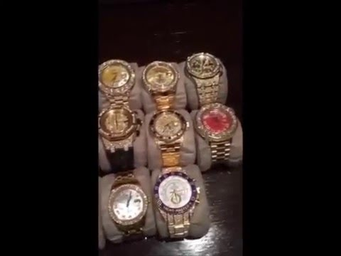 watches phillips x nish screen rolex gold rare floyd be by bucherer to shot mayweather auctioned editorial hublot white tej at