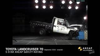 ANCAP CRASH TEST: Toyota Landcruiser 70 single cab chassis (Sept 16 - onwards) frontal offset test