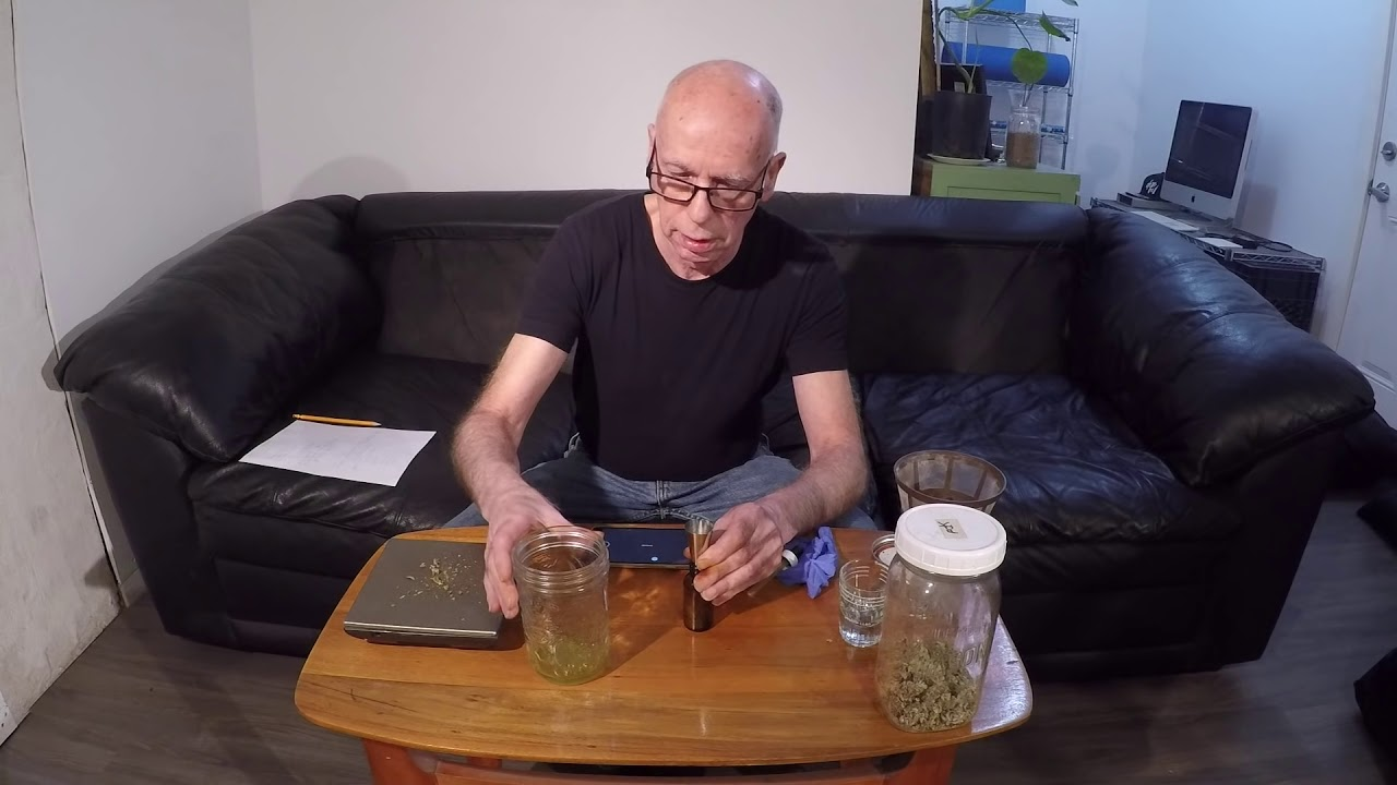 CANNABIS TINCTURE  Cold Method  (Recommended)
