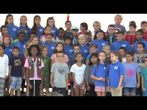 Red, White & Blue Day at Stanley Switlik Elementary School, 11/10/16 Marathon, Florida Keys