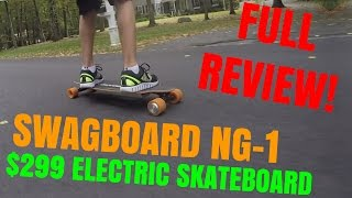 Swagboard NG-1 Electric Skateboard - Full Review! - tylerf