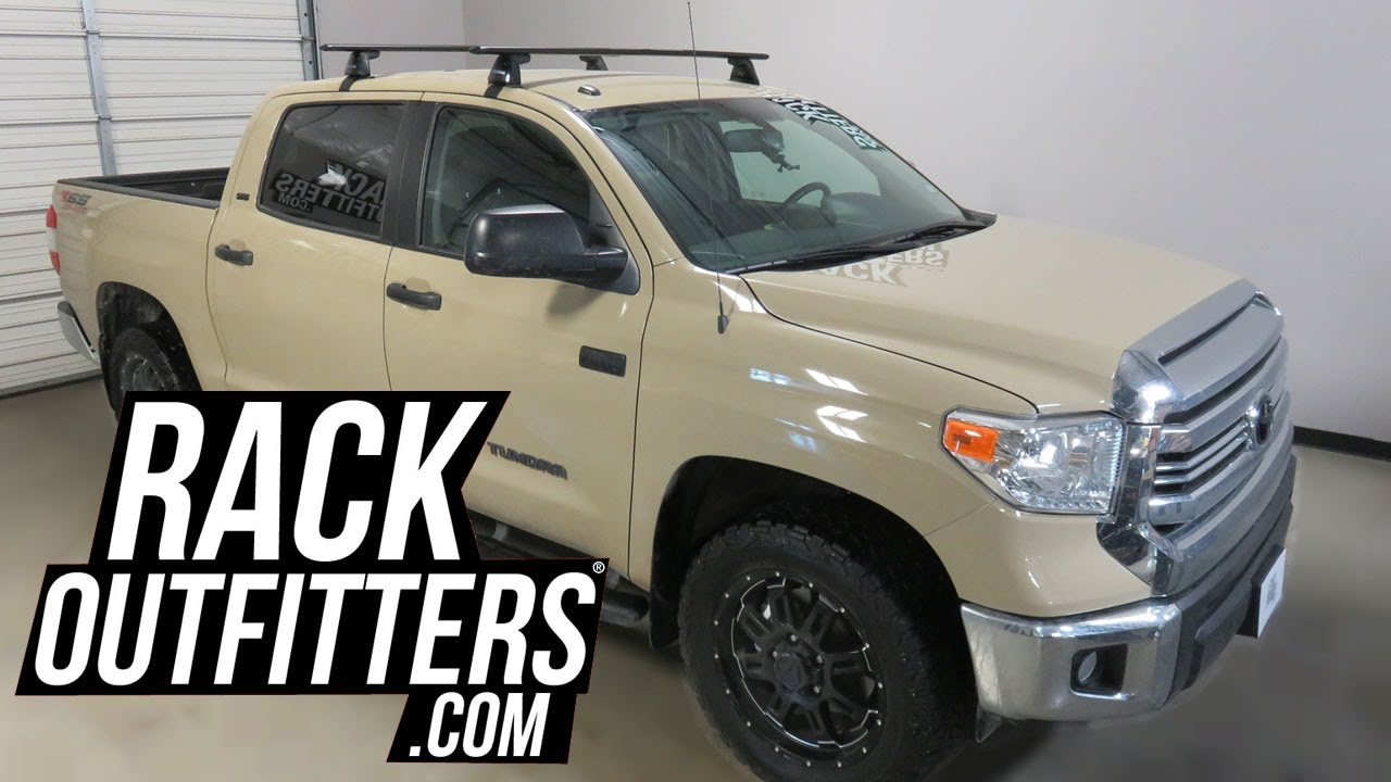Awesome Toyota Tundra CrewMax With Yakima BaseLine Jetstream Roof Rack Crossbars