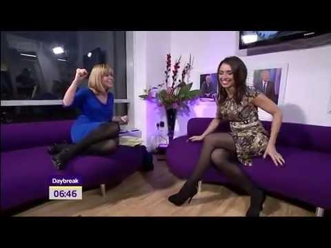 Christine Bleakley & Kate Garraway in tights on Daybreak