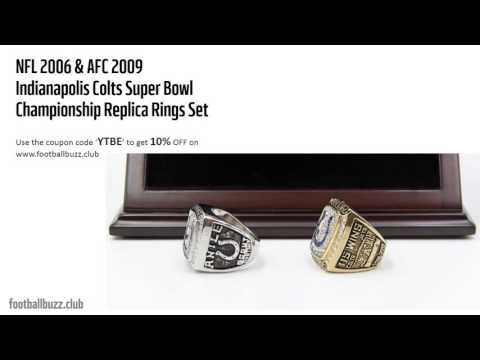NFL 2006 / 2009 INDIANAPOLIS COLTS Super Bowl Ring Championship Rings Replica Set
