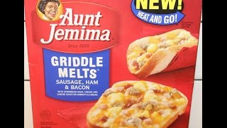 Aunt Jemima Griddle Melts: Sausage, Ham & Bacon Review