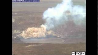 Lava explosion at Halemaumau