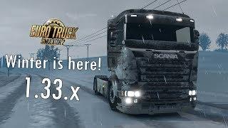 Snow mods! - Euro Truck Simulator 2 - 1.33.x - repaired!