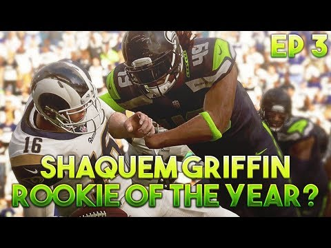 SHAQUEM GRIFFIN ROOKIE OF THE YEAR? Madden 19 Player Career[EP.3]
