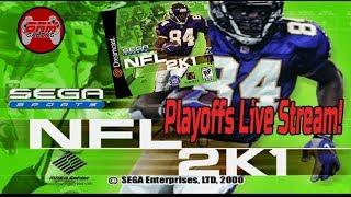 NFL 2K1 Sega Dreamcast Live Stream - FULL PLAYOFFS (WHO WINS IT ALL?)