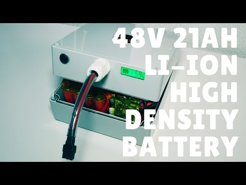 48V 21Ah (1kWh) high density Li-ion battery (with waterproof case)