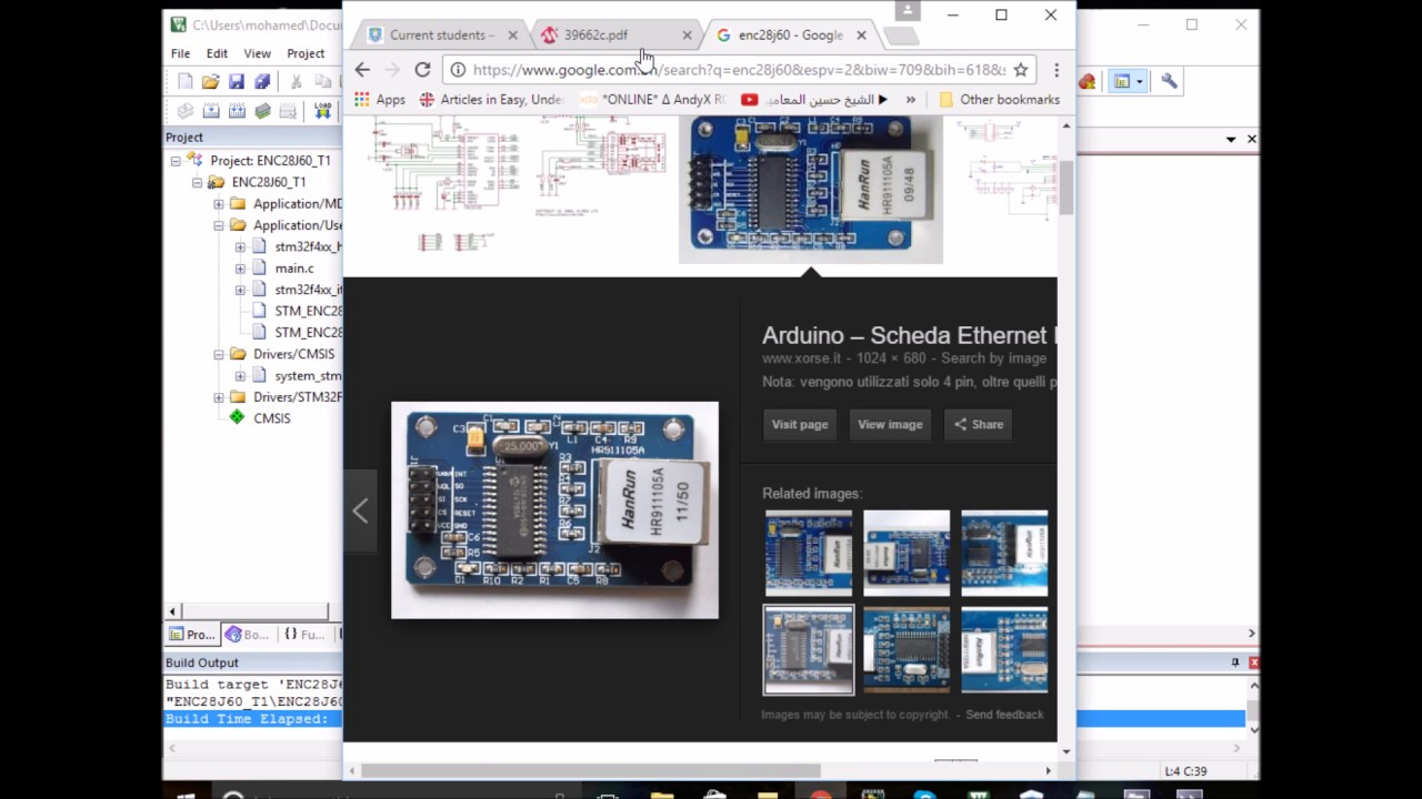 STM32F4 Discovery board: ENC28J60 Ethernet Module Part2- Basic  Initialisations
