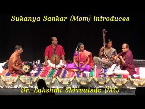 Vaishnavi Sankar's Vocal Arangetram 08 19 2017 4:00-7:30 PM Austin, TX