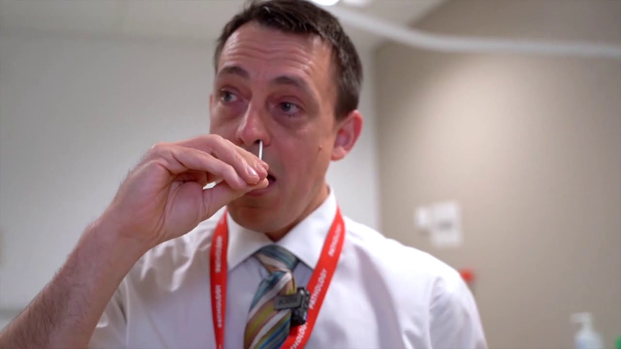 Just had a coronavirus test-a bit confused...