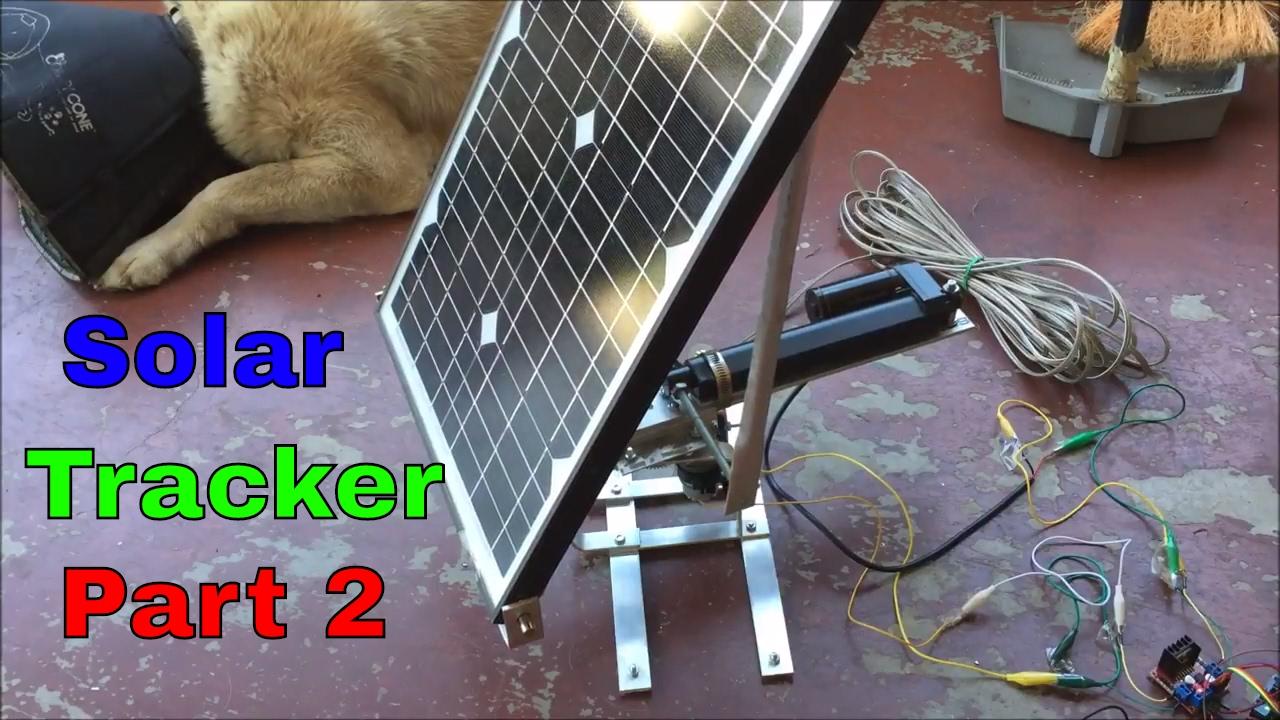 DIY Solar Tracker (Part 2) Horizontal