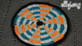 ♥ Подставка под горячее крючком Дартс. Коврик крючком • Crocheted Darts Potholder