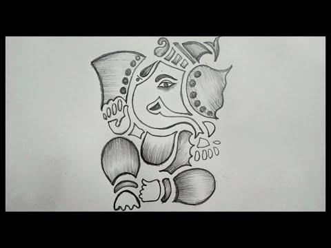 Ganesh Chaturthi Drawing || How To Draw Ganesha Drawing || Easy Ganesh Drawing || Pencil Drawing