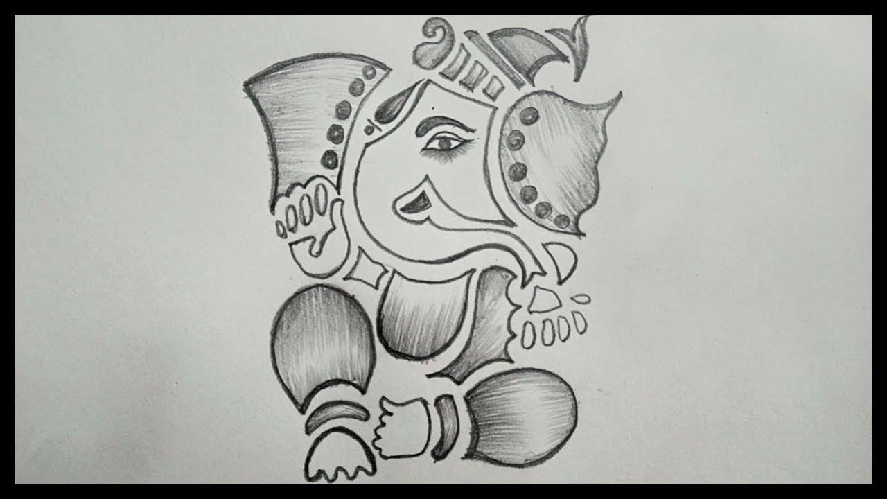 Ganesh Chaturthi Drawing || How To Draw Ganesha Drawing ...