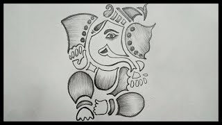 Ganesh Chaturthi Drawing || How To Draw Ganesha Drawing || Easy Ganesh Drawing || Pencil Drawing