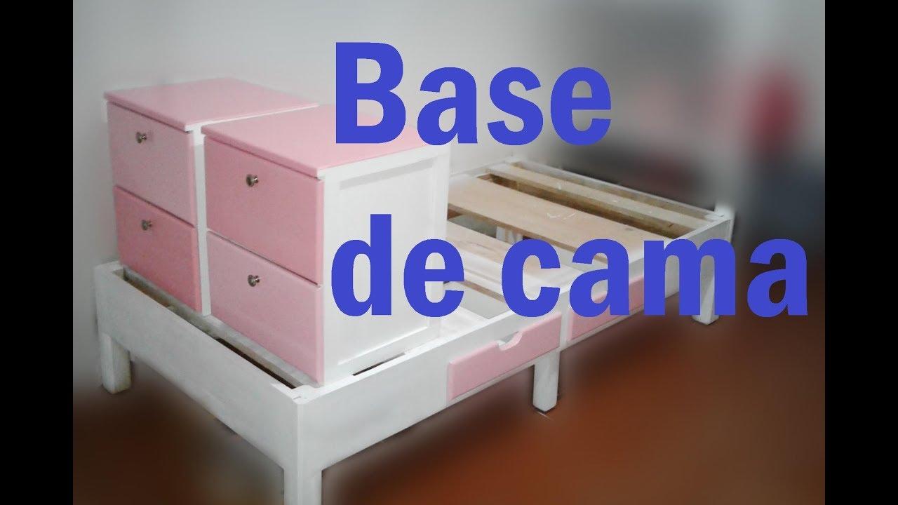 Como hacer Base para cama y Burós de Madera parte 1 #19 - YouTube