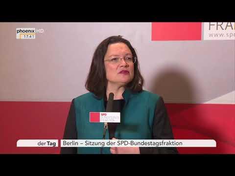 Statement Andrea Nahles Rande der der Fraktionssitzung der SPD am 27.11.17