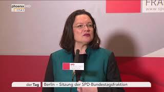 Statement Andrea Nahles Rande der Fraktionssitzung der SPD am 27.11.17