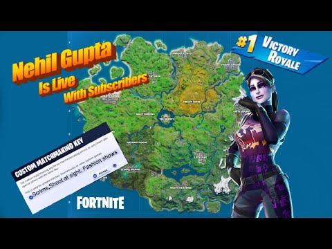 Fortnite live (Middle East servers) Playing with subscribers- custom matchmaking scrims and creative from YouTube · Duration:  1 hour 29 minutes 23 seconds