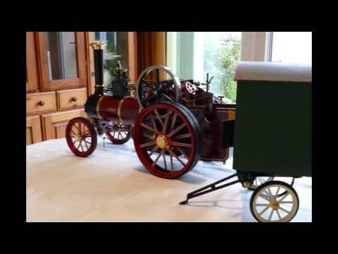 Maxitrak Burrell Traction Engine With 1 Inch Scale Laser Cut Living Van