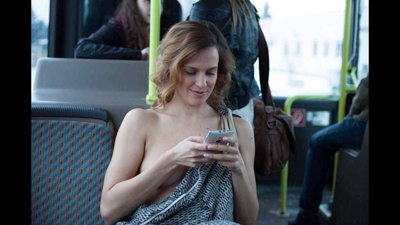 Nackte frauen im bus