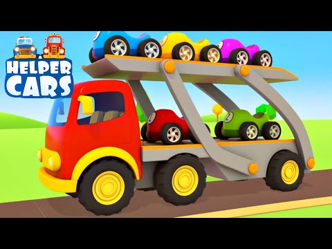 Learn Colors For Kids And Numbers For Children With Helper Cars! Cars Cartoons For Babies.