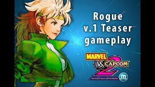 Marvel vs Capcom 2 M.U.G.E.N. Project - Rogue v1 Teaser Gameplay