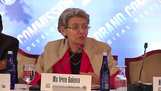 Irina Bokova, Director-General, UNESCO @ 10th Broadband Commission Meeting NY 2014.