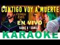 ► Contigo Voy a Muerte KARAOKE Acústico Karol G, Camilo 🎧 Karaoke Melódico (COVER en Vivo)