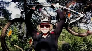 Chemmy Alcott training ... on a mountain bike