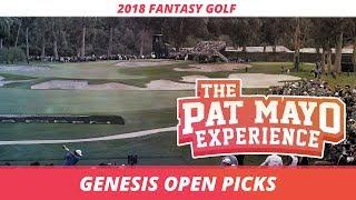 Fantasy Golf Picks: 2018 Genesis Open Picks, Sleepers, and Rankings