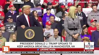 Donald Trump Jr. Greeted with Chants of '46' During NH Rally