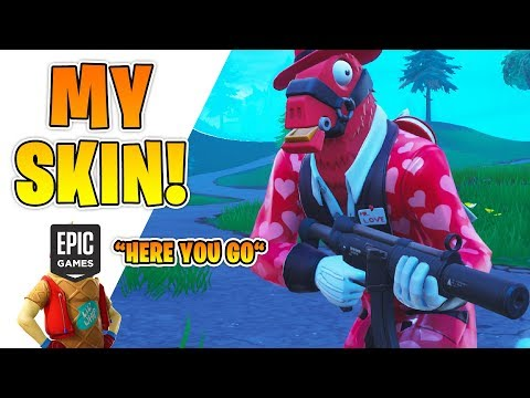 Epic Games Made MY SKIN! (*NEW* LLAMA SKIN FINALLY OUT!)