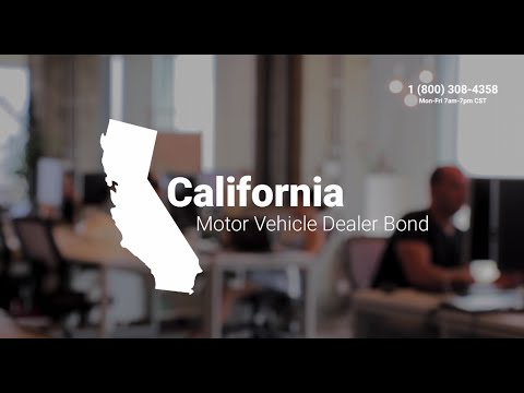 California Motor Vehicle Dealer Bond
