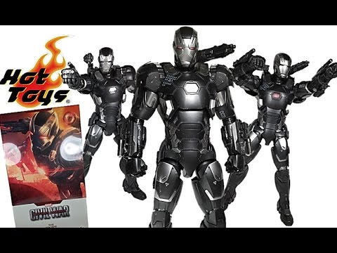 Hot Toys Captain America Civil War Diecast War Machine MK3 1:6 Scale Figure  Review