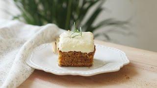 투박한 당근케이크 : Carrot Cake with Cream Cheese Frosting  Honeykki 꿀키
