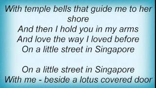 Manhattan Transfer - On A Little Street In Singapore Lyrics
