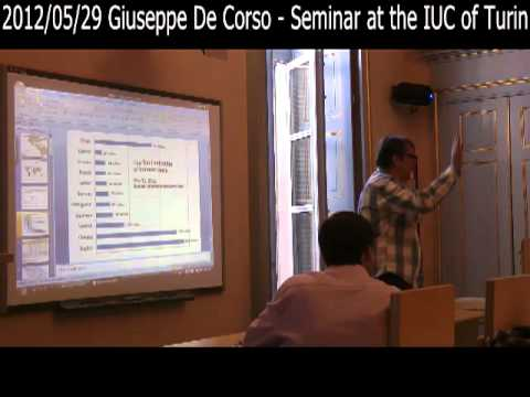 2012/05/29 Giuseppe De Corso - Seminar at the IUC of Turin