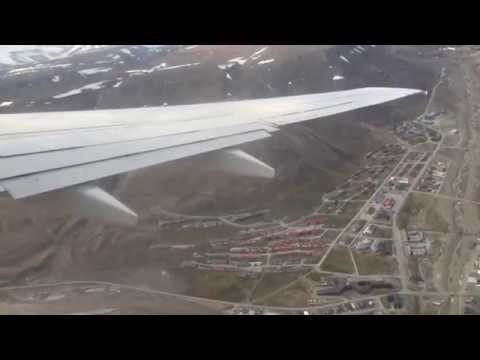 Scandinavian Airlines, SAS 737 | Takeoff from Longyearbyen, Svalbard