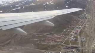 Scandinavian Airlines, SAS 737 | Takeoff from Longyearbyen, Svalbard
